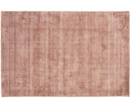 Handgewebter Viskoseteppich Jane in Terrakotta, Flor: 100% Viskose, Terrakotta, B 120 x L 180 cm (Größe S)
