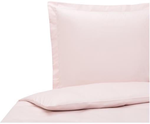 Pościel z satyny bawełnianej Premium, Blady różowy, 135 x 200 cm