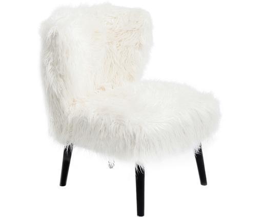 Kunstfell-Sessel Aspen, Weiß