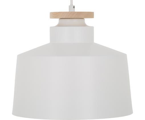 Lampada a sospensione stile nordico Malmö, Paralume: metallo, legno, Baldacchino: metallo, Bianco, Ø 30 x Alt. 26 cm