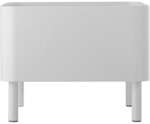 Portavaso Zella, Metallo, rivestito, Bianco, L 30 x A 23 cm