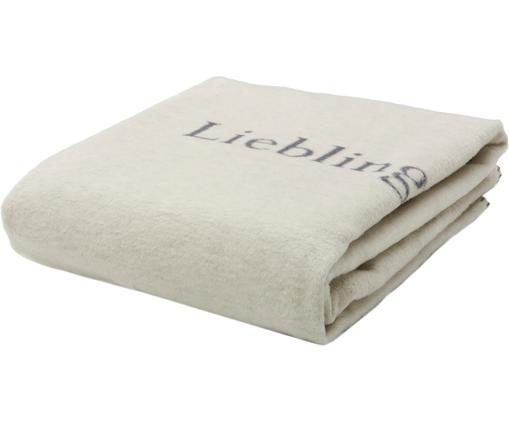 Plaid Lieblingsplatz, 85%Baumwolle, 8%Viskose, 7%Polyacryl, Grau, Weiß, 150 x 200 cm