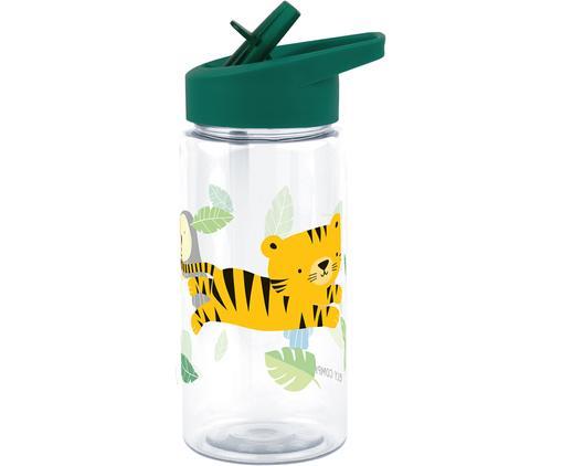 Botella Jungle Tiger, Plástico, Verde, 450 ml