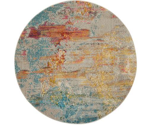 Alfombra redonda Celestial, Parte superior: polipropileno, Reverso: yute, Multicolor, Ø 160 cm (Tamaño L)