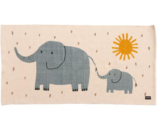 Teppich Elephant, Baumwolle, Gebrochenes Weiß, 70 x 140 cm