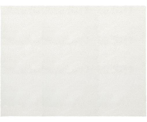 Tappeto peloso morbido color crema Leighton, Vello: 100% poliestere (microfib, Retro: 100% poliestere, Crema, Larg. 300 x Lung. 400 cm (taglia XL)