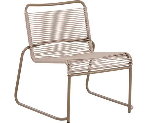 Sedia da esterno Lido, Struttura: alluminio verniciato, Rivestimento: nastro in PVC, Taupe, Larg. 64 x Alt. 70 cm