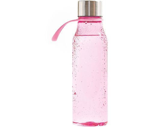 Bidon Lean, Różowy, stal, 570 ml