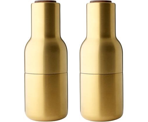 Set macina spezie Bottle Grinder 2 pz, Coperchio: legno di noce, Ottonato, Ø 8 x Alt. 21 cm