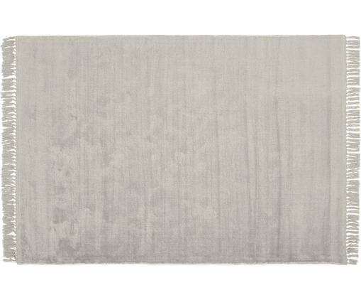 Ręcznie tkany dywan z wiskozy z frędzlami Aria, Jasny szary, S 160 x D 230 cm (Rozmiar M)