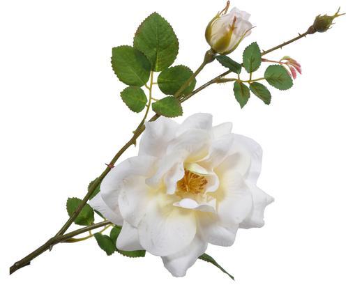 Fleur de rose artificielle Malina, Blanc, crème
