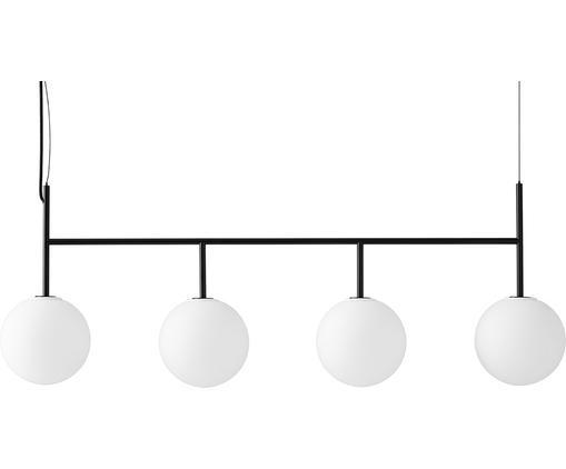 Suspension LED en verre opalescent TR Bulb, Blanc, noir