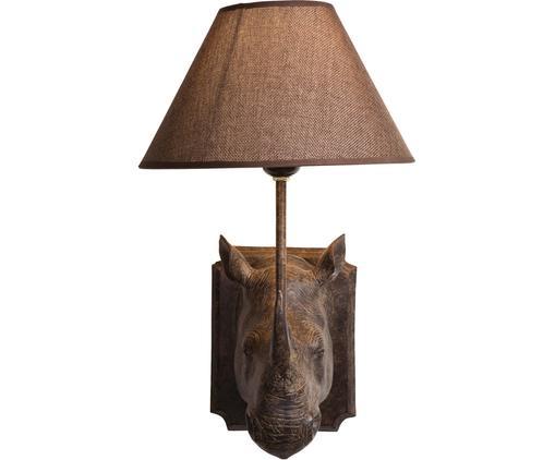 Applique décorative avec prise secteur Rhino, Brun