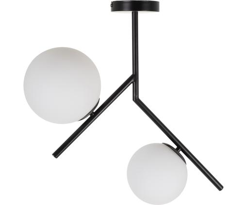 Deckenleuchte Spheric, Baldachin: Metall, beschichtet, Schwarz, B 15 x T 58 cm