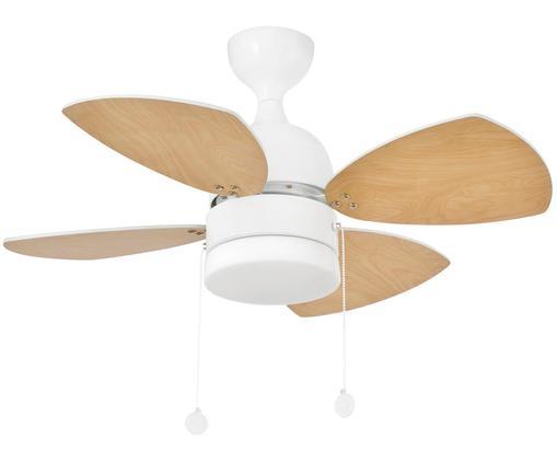 Ventilateur de plafond Mediterráneo, Blanc, brun