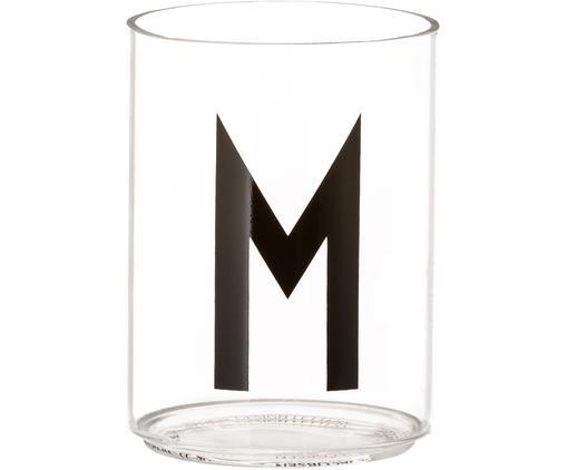 Vasos con letra Personal (variantes de A a Z), Vidrio de borosilicato, Transparente, negro, Vaso M