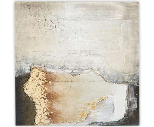 Handgemaltes Leinwandbild Texture, Bild: Ölfarben auf Leinen (300 , Mehrfarbig, 100 x 100 cm