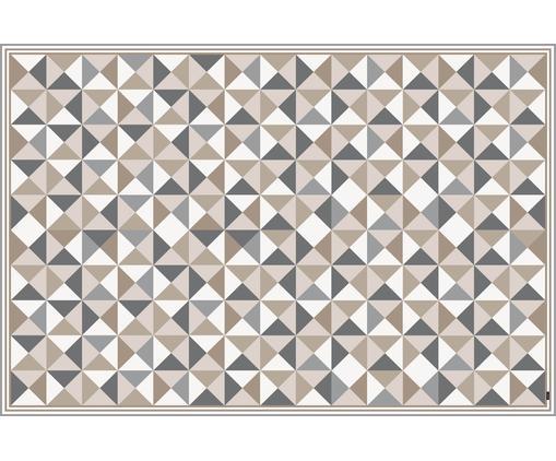 Alfombra vinílica Haakon, Vinilo, reciclable, Gris, tonos beige, blanco, An 136 x L 203 cm