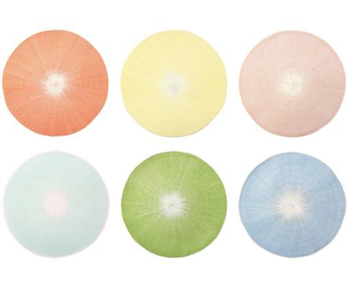 Rundes Tischset Centre, 6er Set, Tauenpapier, gefärbt, Mehrfarbig, Ø 38 cm