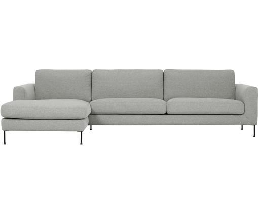 Ecksofa Cucita (4-Sitzer), Bezug: Webstoff (Polyester) 45.0, Gestell: Massives Kiefernholz, Füße: Metall, lackiert, Webstoff Grau, B 302 x T 163 cm