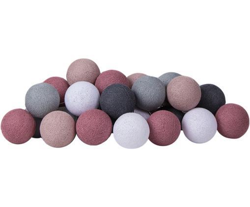 Girlanda świetlna LED Colorain, Purpurowy, odcienie szarego, biały, D 354 cm
