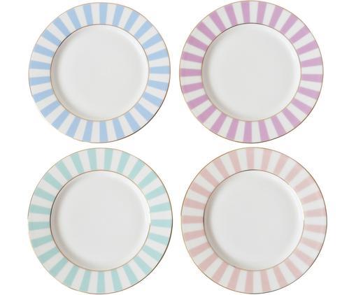 Ensemble d'assiettes à dessert Stripy, 4élém., Multicolore