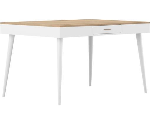 Stół do jadalni Horizon, Drewno dębowe, biały