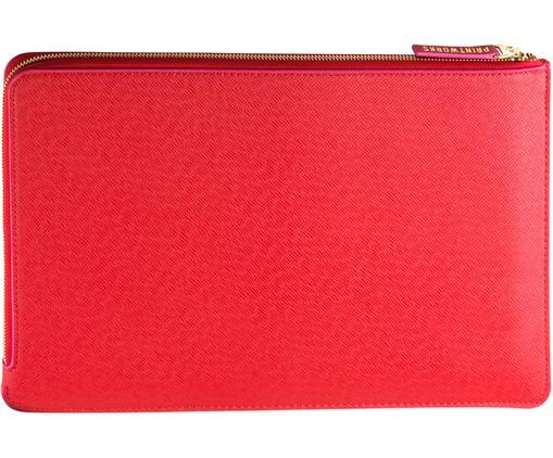 Laptophülle Elegance für MacBook Pro 15 Zoll, Kunstleder, Rot, Pink, 38 x 27 cm