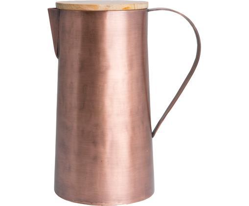 Caraffa Copper, Brocca: rame, spazzolato, Coperchio: legno di mango, Rame, 1.7 L