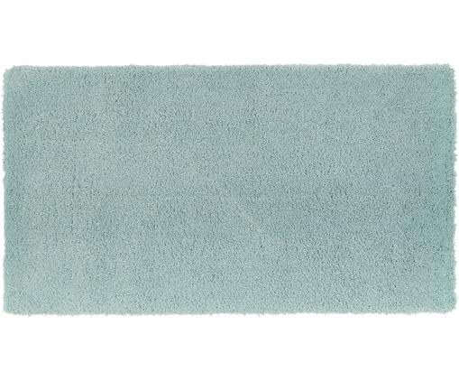 Alfombra de pelo largo Leighton, Parte superior: 100%poliéster (microfibr, Reverso: 100%poliéster, Verde menta, An 80 x L 150 cm (Tamaño XS)