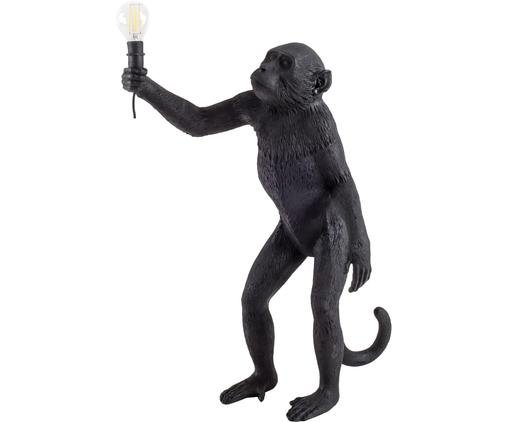 Outdoor LED tafellamp Monkey, Kunsthars, Zwart, 46 x 54 cm