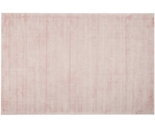 Alfombra artesanal de viscosa Jane, Parte superior: 100%viscosa, Reverso: 100%algodón, Rosa, An 200 x L 300 cm (Tamaño L)