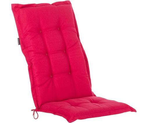 Einfarbige Hochlehner-Stuhlauflage Panama, Bezug: 50% Baumwolle, 50%Polyes, Fuchsie, 50 x 123 cm