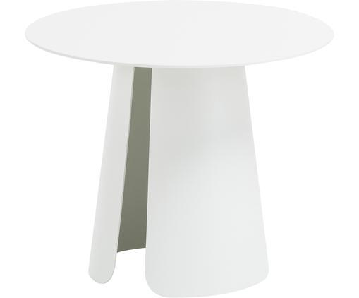 Metall-Beistelltisch Feel in Weiß, Aluminium, pulverbeschichtet, Weiß, Ø 40 x H 32 cm
