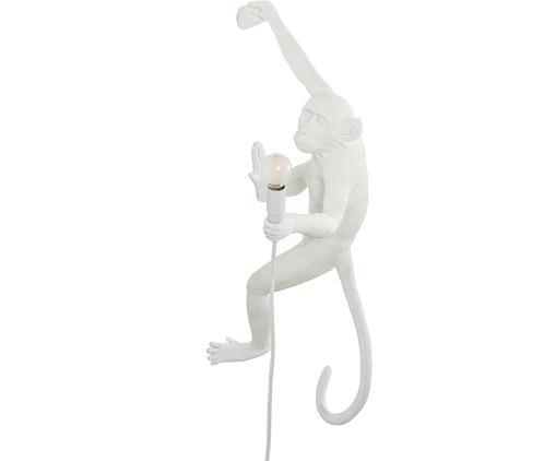 Applique décorative avec prise secteur The Monkey, Blanc