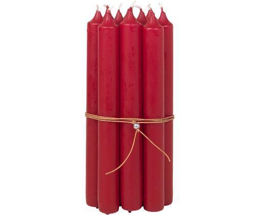 Candela a bastone Classic, 10 pz., Paraffina, Rosso, Ø 2 x Alt. 19 cm