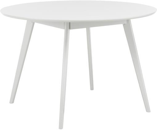 Table ronde en bois Yumi, Blanc