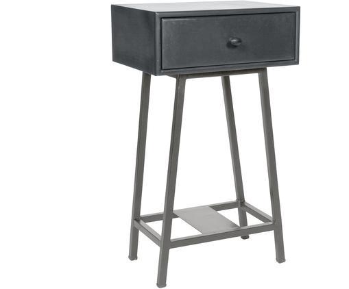 Beistelltisch Skybox mit Schublade, Dunkelgrau, 40 x 70 cm