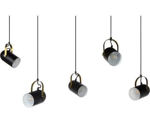 Große Pendelleuchte Swap, verstellbar, Schwarz, Messingfarben, Ø 350 cm