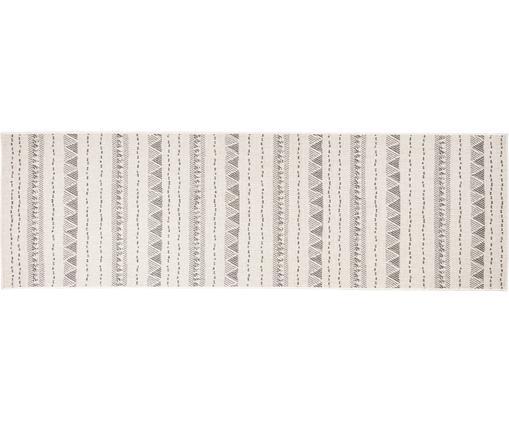 In- & Outdoor Wendeläufer Bahamas, Polypropylen, Grau, Cremefarben, 80 x 250 cm