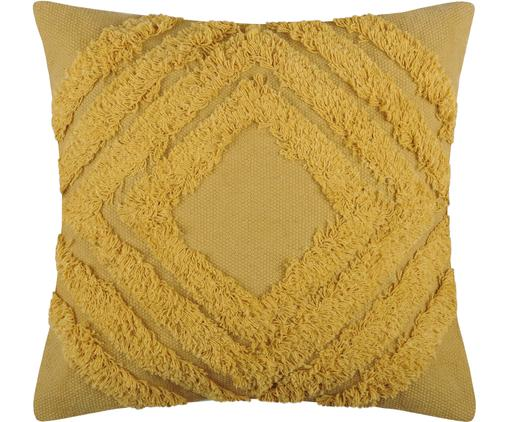 Coussin 40x40 jaune moutarde Greenmood, Jaune moutarde