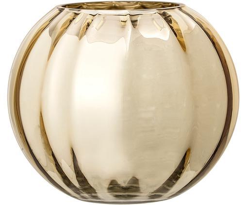 Mały wazon ze szkła Viola, Szkło, Odcienie złotego, Ø 18 x W 15 cm