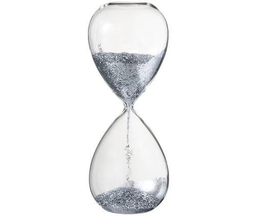 Oggetto decorativo Hourglass, Trasparente, argentato, Ø 7 x Alt. 16 cm