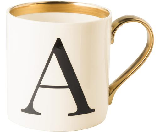 Tasse Baskerville (Varianten von A bis Z), Rand: Vergoldet, Beige, Schwarz, Gold, Tasse A