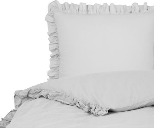 Bavlnená posteľná bielizeň s vypraným efektom Florence, Svetlosivá