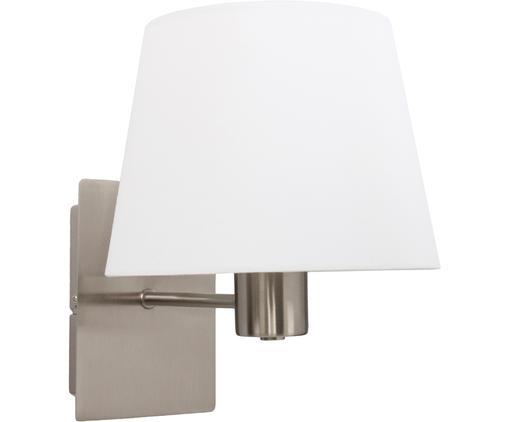 Wandleuchte Astoria, Lampenschirm: Textil, Lampengestell: Chrom, Lampenschirm: Weiß, Ø 20 x H 15 cm