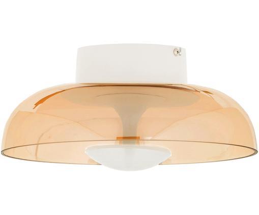 Plafonnier design en verre Vintage, Ambré, métal