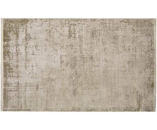 Alfombra con flecos Cordoba, estilo vintage, Parte superior: 70%acrílico, 30%viscosa, Reverso: algodón, Tonos beige, An 160 x L 230 cm (Tamaño M)
