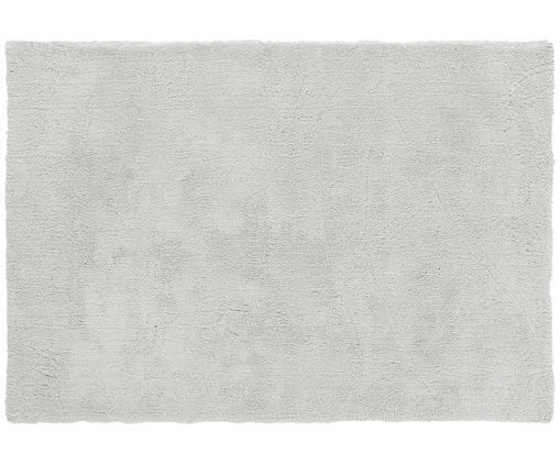 Alfombra de pelo largo Leighton, Parte superior: 100%poliéster (microfibr, Reverso: 100%poliéster, Gris claro, An 120 x L 180 cm (Tamaño S)
