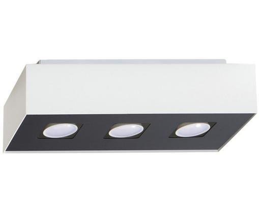 Deckenleuchte Hydra, Lampenschirm: Stahl, beschichtet, Baldachin: Stahl, beschichtet, Weiß, Schwarz, 34 x 11 cm
